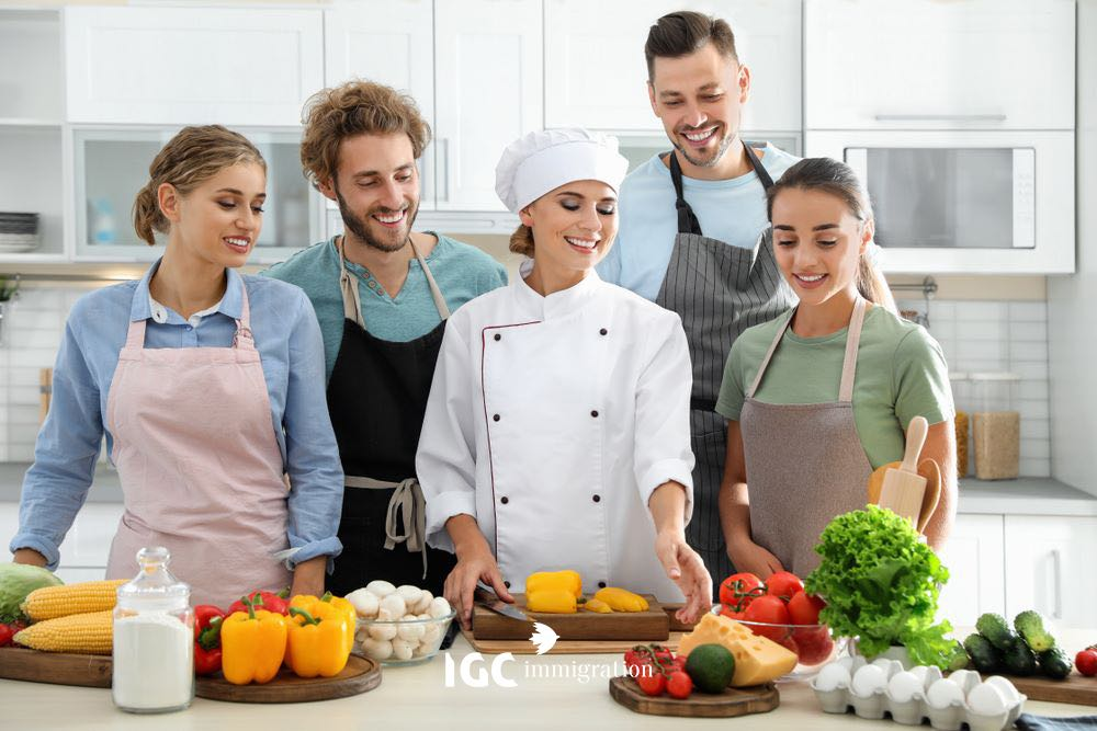 ngành đầu bếp tại Canada