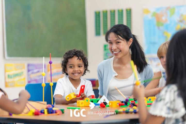 việc làm nghề giáo viên mẫu giáo tại Canada