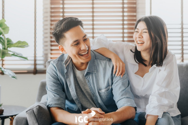 cặp đôi đi định cư canada diện kết hôn